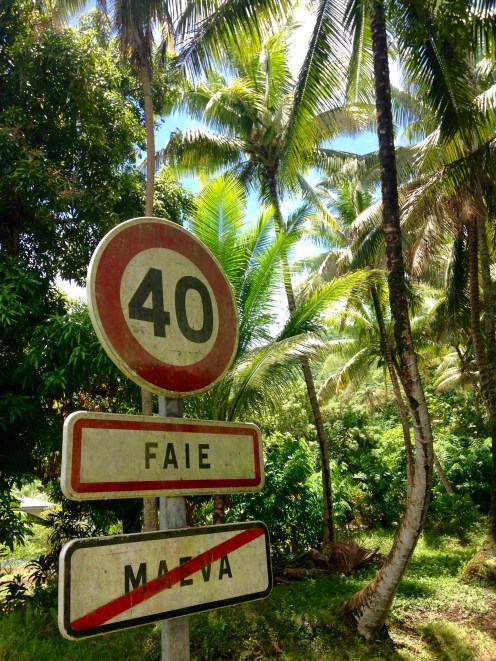 Even paradise has a speed limit