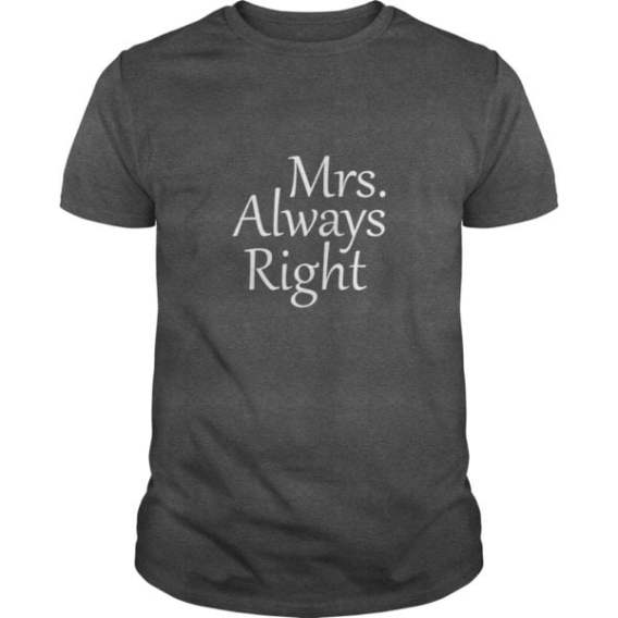 Funny Couple T Shirt Mr Right For Men