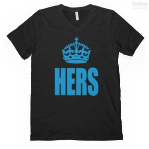 hers v-neck t-shirt