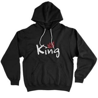 Red Crown White King Hoodie