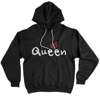 Red Crown White Queen Hoodie