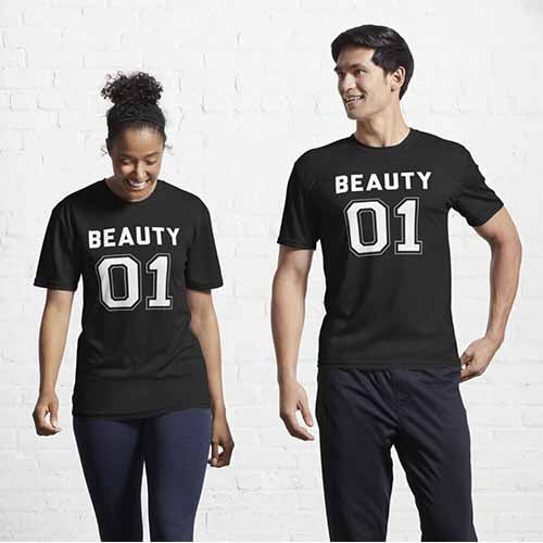 Beauty and The Beast Couple T Shirt