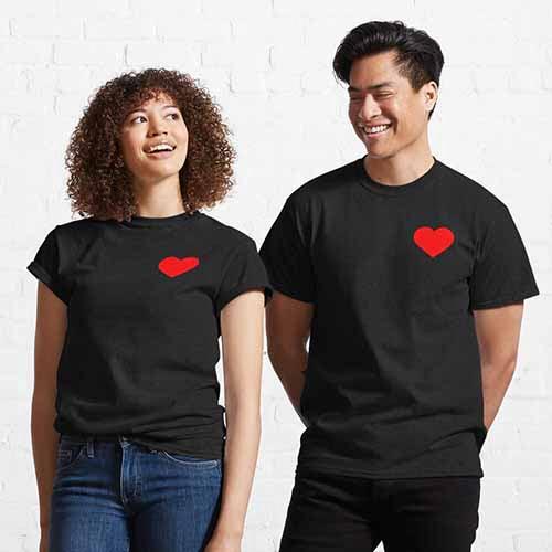 Couple Heart Classic T-Shirt