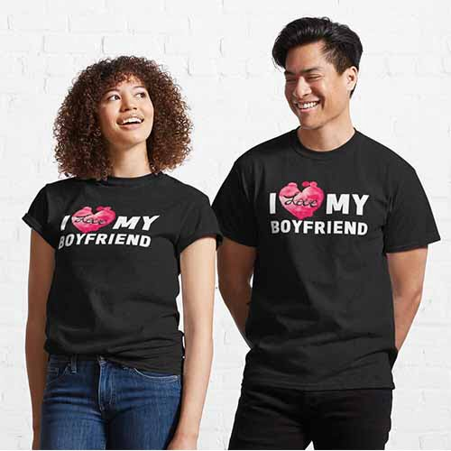 I Love My Boyfriend Girlfriend Couple T-Shirts