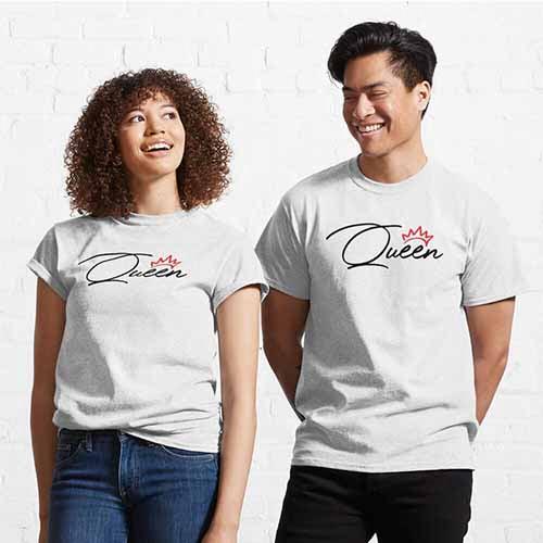 King Queen Couple Classic T-Shirt