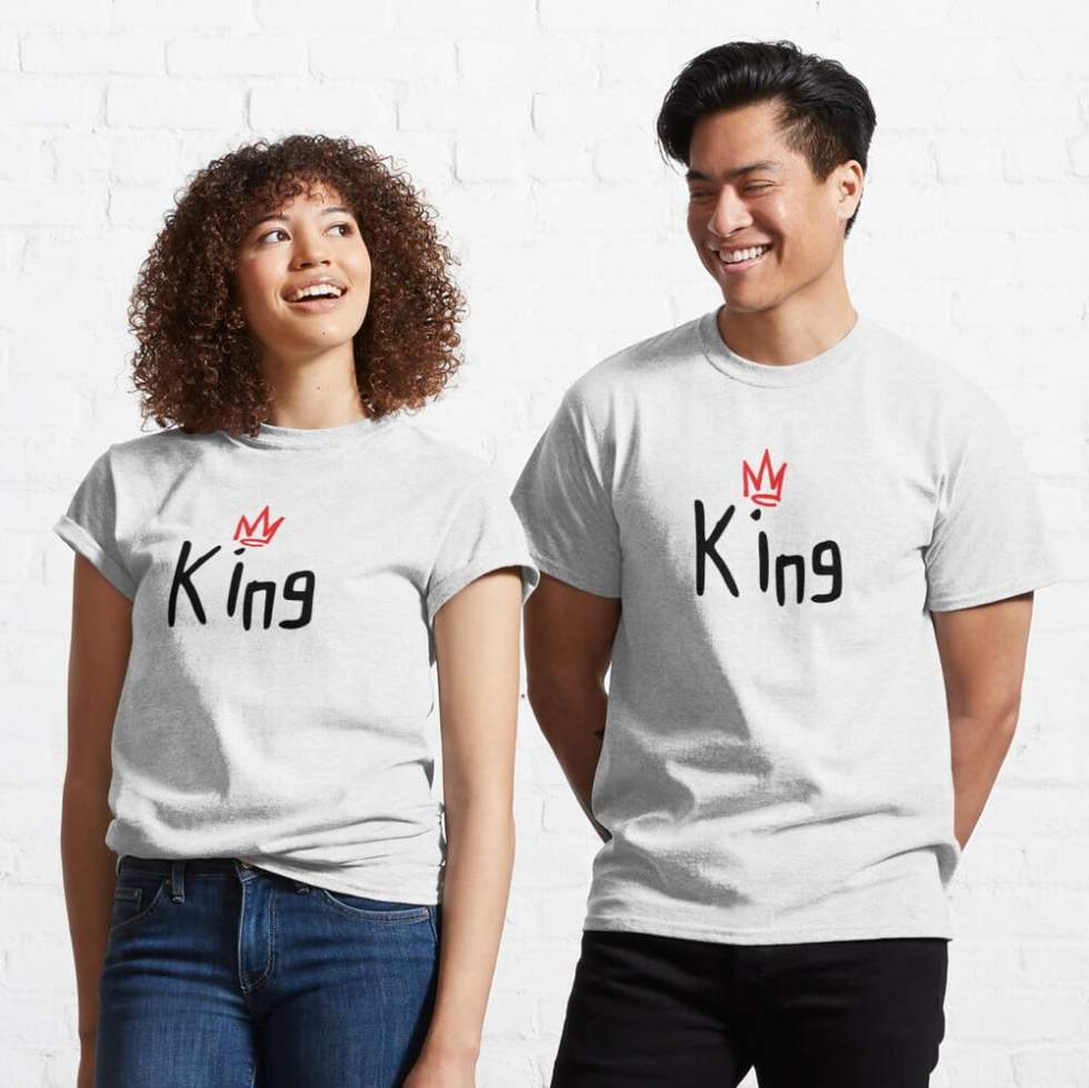 Matching King Queen Couple Apparel