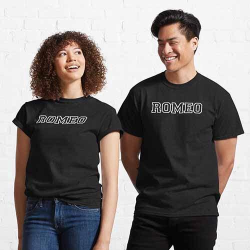 Matching Romeo and Juliet Couple T Shirts