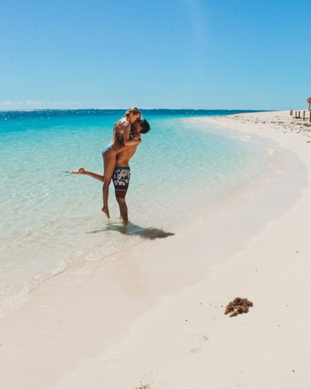 couples coordonne turquoise bay exmouth australie