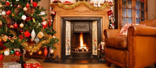 Christmas interior panorama