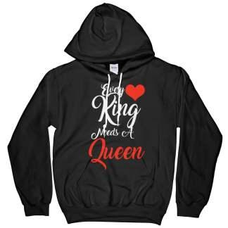 I Am Her King Hoodie T-Shirt