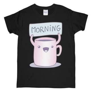 Morning T-Shirt - Good Morning Couple T-Shirt