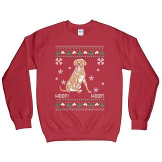 Labrador Retriever Ugly Christmas Sweatshirt