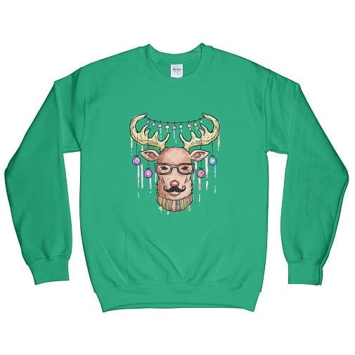 Reindeer Hoodie - reindeer sweatshirt