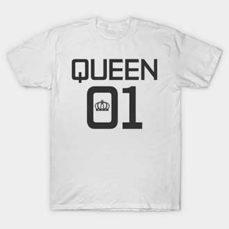 Black and White King and Queen 01 T-Shirts