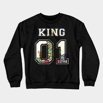Christmas King and Queen Couple Sweatshirts