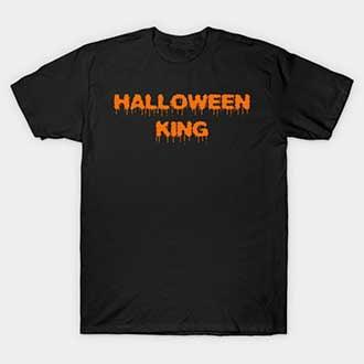 Orange Halloween Couple King Queen Shirts