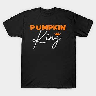Pumpkin Couple King Queen Shirts