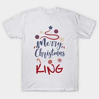 Mistletoe Merry Christmas King T-Shirt