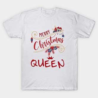Mistletoe Merry Christmas Queen T-Shirt