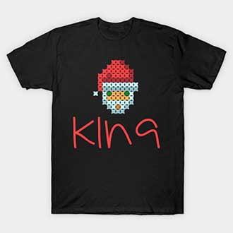 Pixel Santa Christmas King T-Shirt