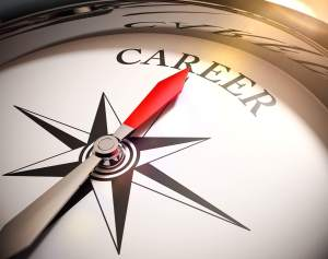 Compass Rose pointing to Career. Career Counseling with experienced Therapist Time Barron in Cincinnati, OH 45226 using Cognitive Behavioral Therapy.