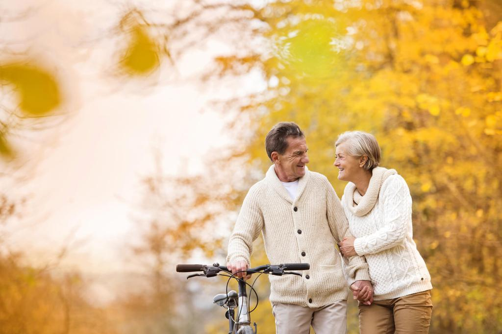 Photo of Retired Couple in Autumn | Counseling for Marriage Problems After Retirement | Relationship & Marriage Counselor in Cincinnati, OH 45226