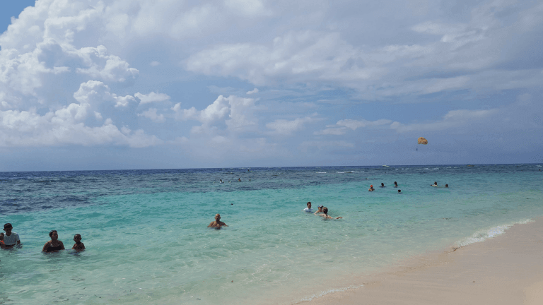 Image of West Bay beach on a DIY tour NCL Getaway Cruise
