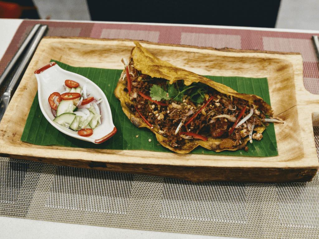 Deevana Plaza traditional Thai taco