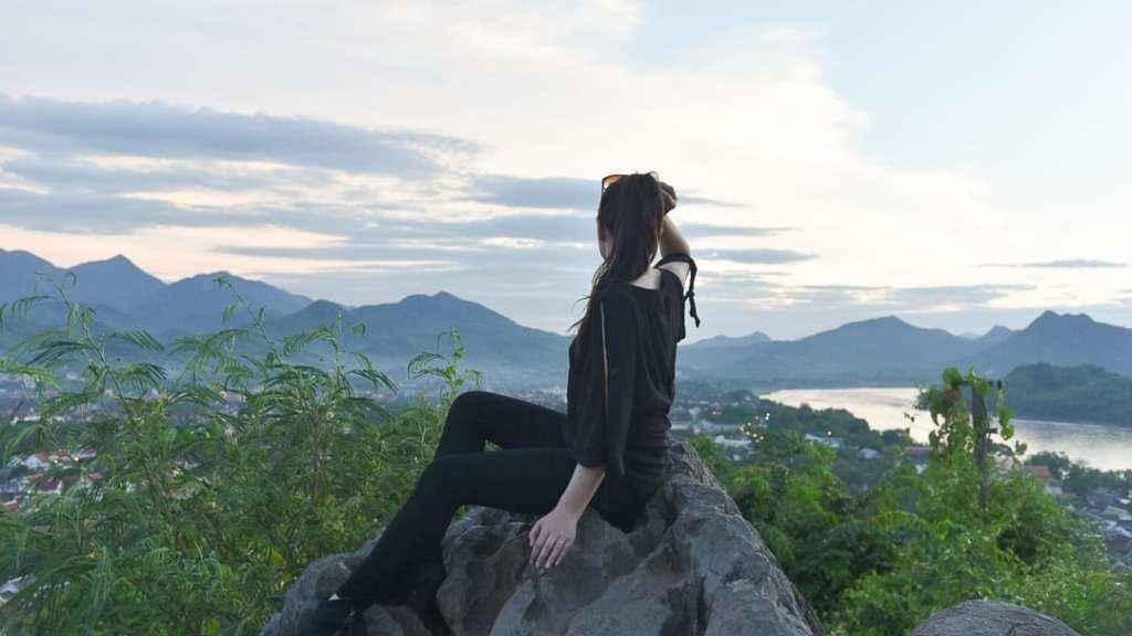 Sunset at Mt Phousi Laos
