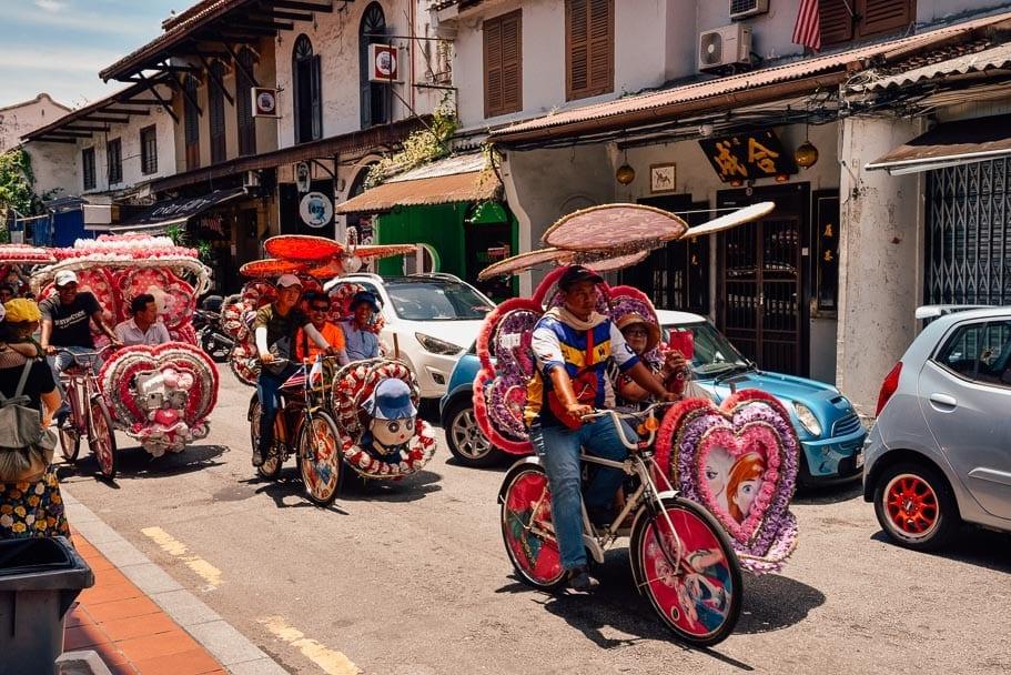 Rickshaw (Trishaw) in Maleka