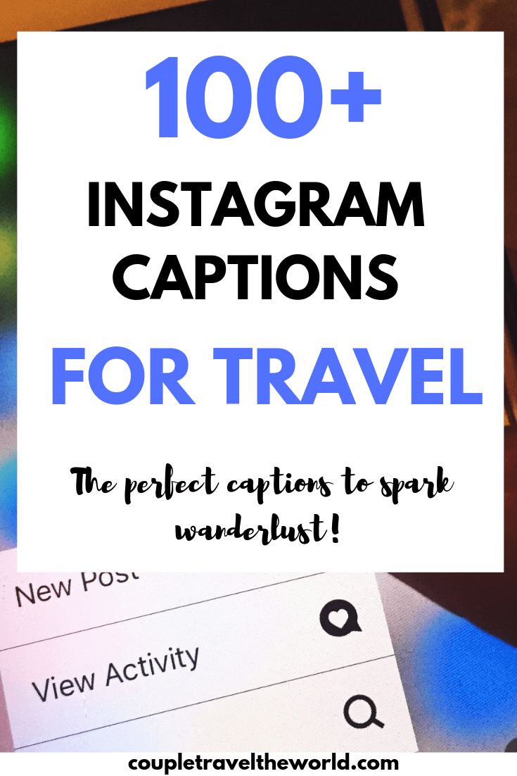 Instagram captions for travel