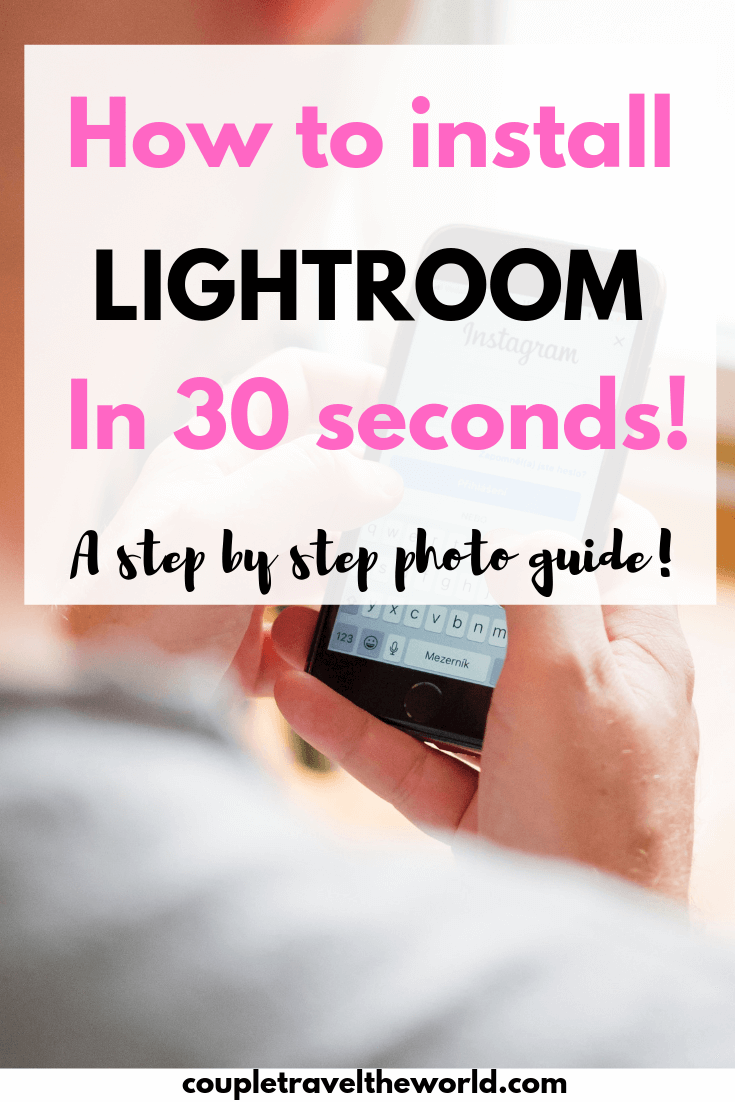 Lightroom in 30 seconds installation guide