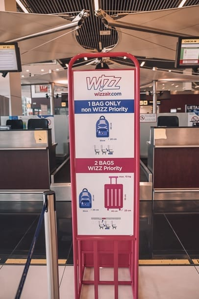 wizz air baggage policy