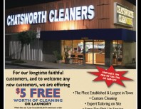 Chatsworth Cleaners, Chatsworth, coupons, direct mail, discounts, marketing, Southern California