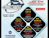 Mike Bradleys Automotive, Chatsworth, coupons, direct mail, discounts, marketing, Southern California