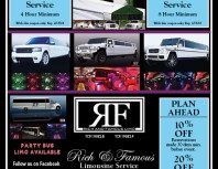 Rich & Famous Limousine Service, Chatsworth, coupons, direct mail, discounts, marketing, Southern California