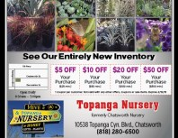Topanga Nursery, Chatsworth, coupons, direct mail, discounts, marketing, Southern California