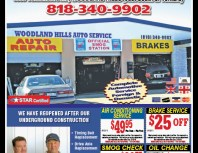 Woodland Hills Auto Service, Chatsworth, coupons, direct mail, discounts, marketing, Southern California