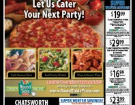 Round Table Pizza, Chatsworth, coupons, direct mail, discounts, marketing, Southern California