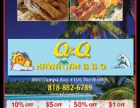 Q&Q Hawaiian BBQ, Granada Hills, coupons, direct mail, discounts, marketing, Southern California
