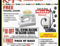 Kingdom Sewing & Vacuum Center, Moorpark, coupons, direct mail, discounts, marketing, Southern California