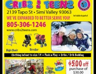 Cribs 2 Teens 2nd Time Around, Moorpark, coupons, direct mail, discounts, marketing, Southern California