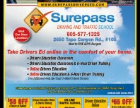 Surepass Driving and Traffic School, Moorpark, coupons, direct mail, discounts, marketing, Southern California