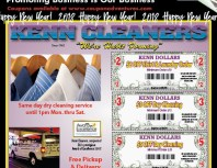Kenn Cleaners, Porter Ranch, coupons, direct mail, discounts, marketing, Southern California