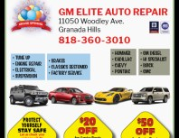GM Elite Auto Repair, Porter Ranch, coupons, direct mail, discounts, marketing, Southern California