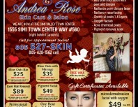 Andrea Rose Skin Care & Salon, Simi Valley,, coupons, direct mail, discounts, marketing, Southern California