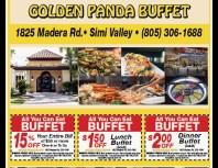 Golden Panda Buffet, Simi Valley,, coupons, direct mail, discounts, marketing, Southern California