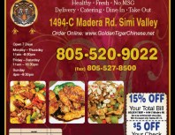 Golden Tiger Chinese Restaurant, Simi Valley,, coupons, direct mail, discounts, marketing, Southern California