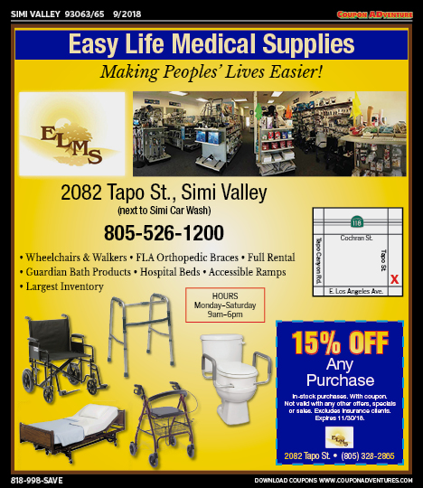 SV25 Easy Life Medical Supplies 93063-65 0918 | Coupon