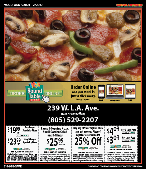 Round Table Pizza Tarzana.Blog Coupon Adventures Promoting Business Is Our Business Page 2
